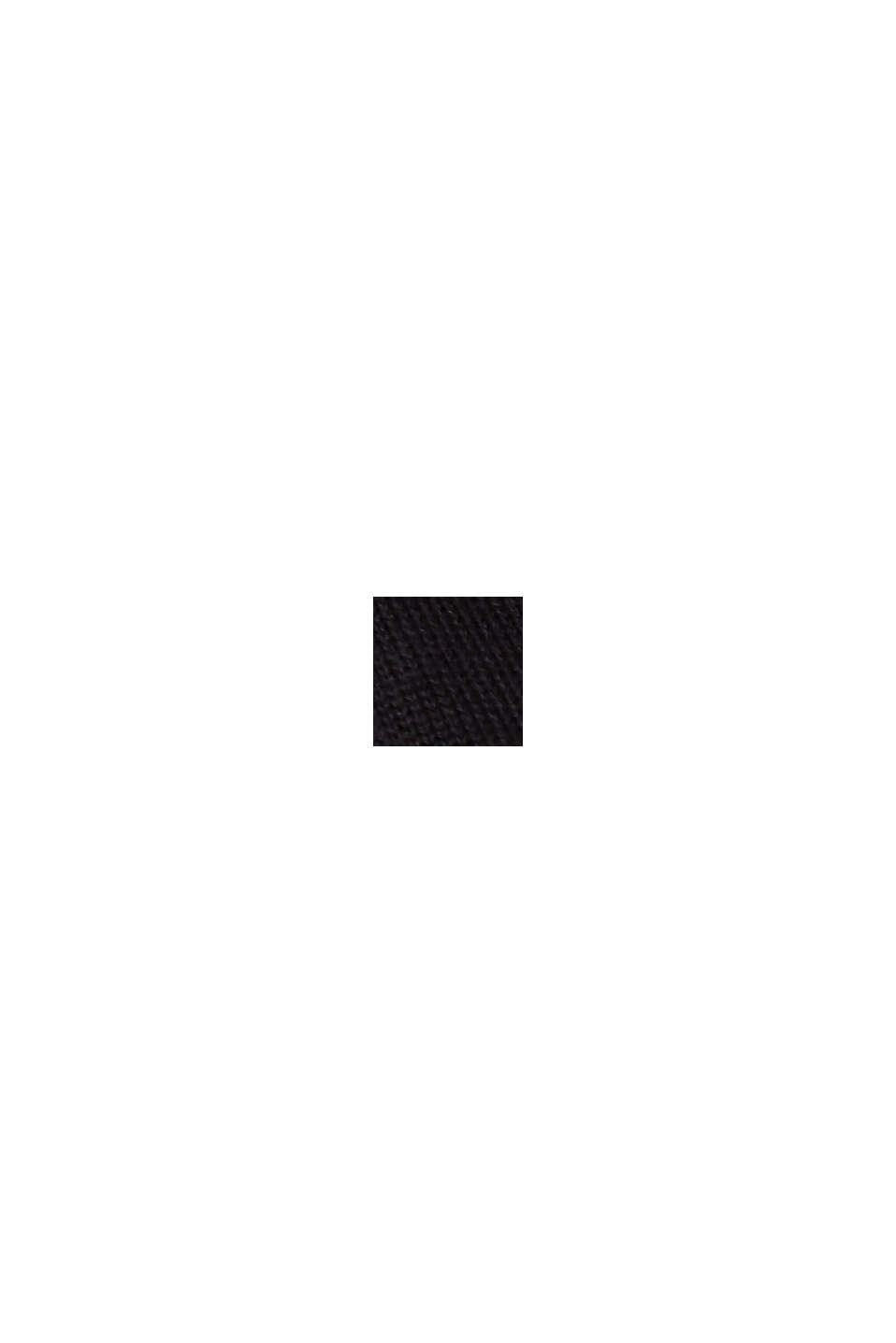 Cardigan zippé en 100% coton biologique, BLACK, swatch