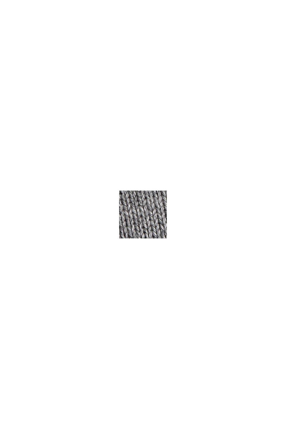Cardigan zippé en 100% coton biologique, MEDIUM GREY, swatch
