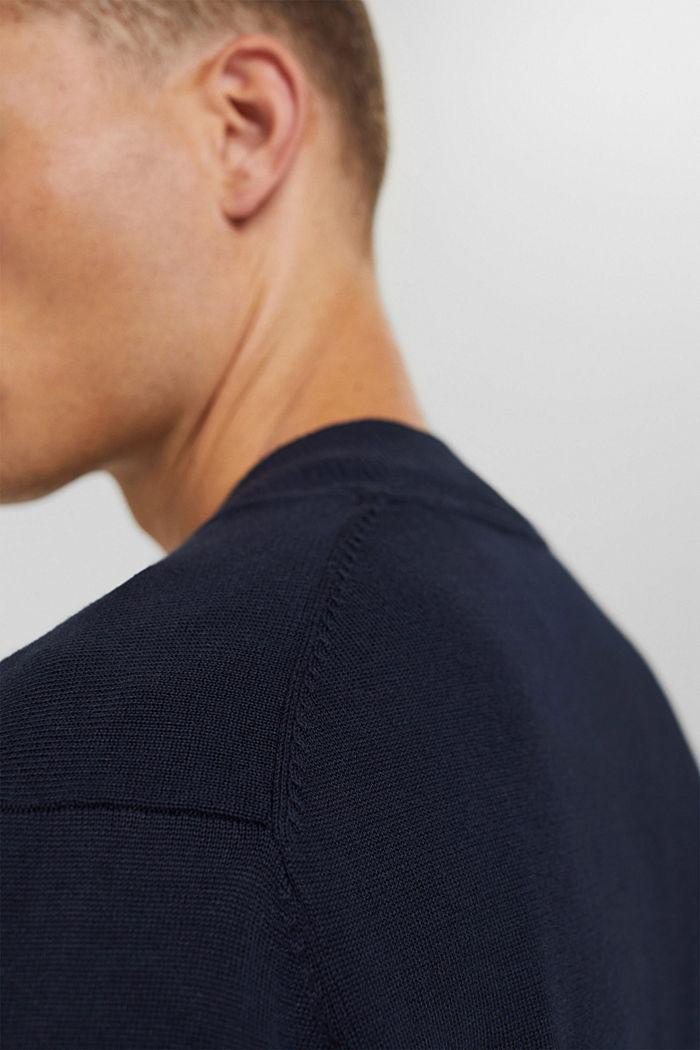 Cardigan zippé en 100% coton biologique, NAVY, detail image number 2