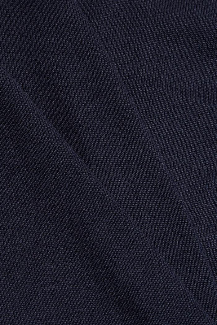 Cardigan zippé en 100% coton biologique, NAVY, detail image number 4
