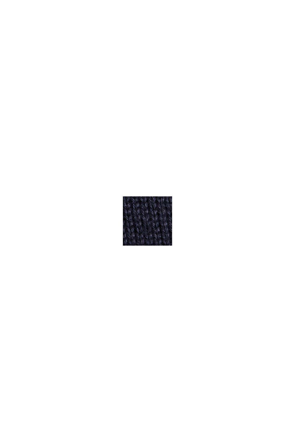Cardigan zippé en 100% coton biologique, NAVY, swatch