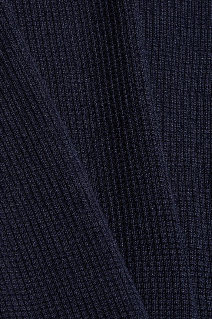 Schipperstrui van 100% pima katoen, NAVY, detail image number 4