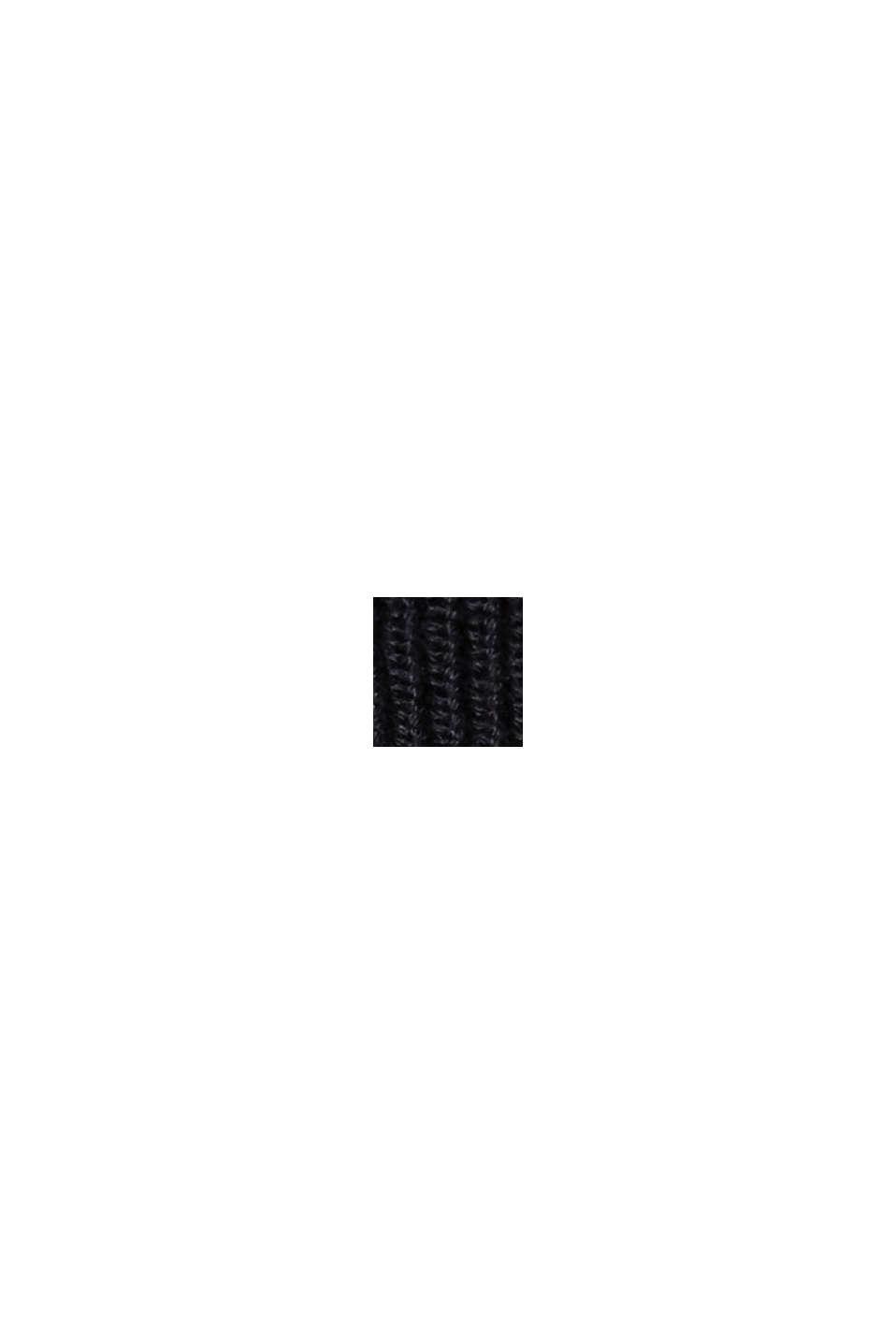 Trui van ribbreisel, van 100% biologisch katoen, BLACK, swatch