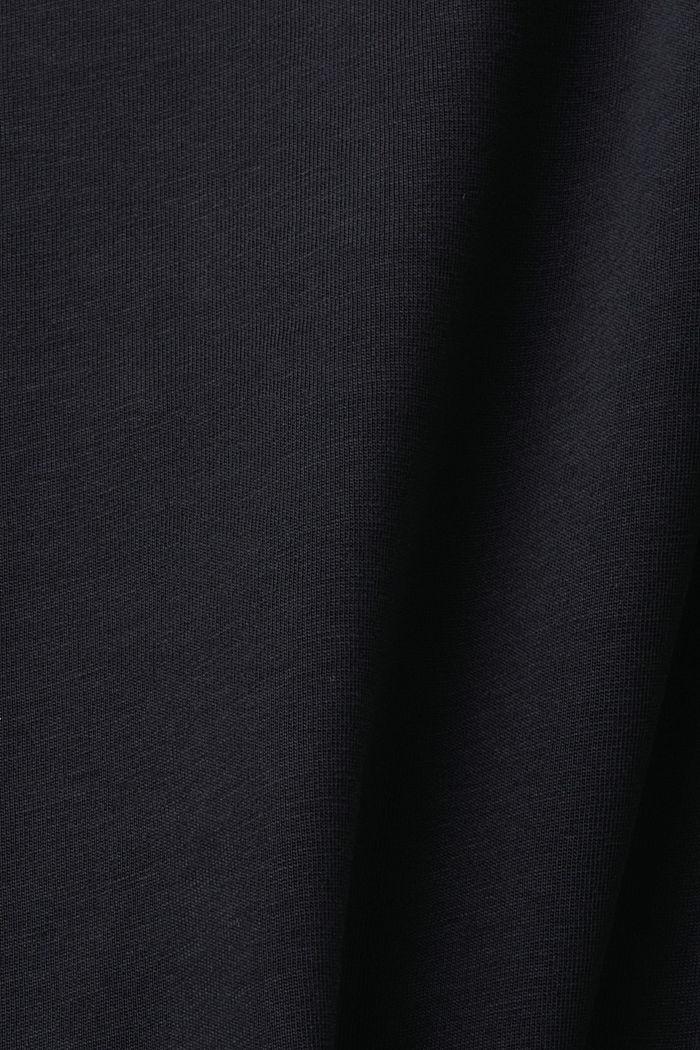 Camiseta de jersey en 100% algodón ecológico, BLACK, detail image number 4