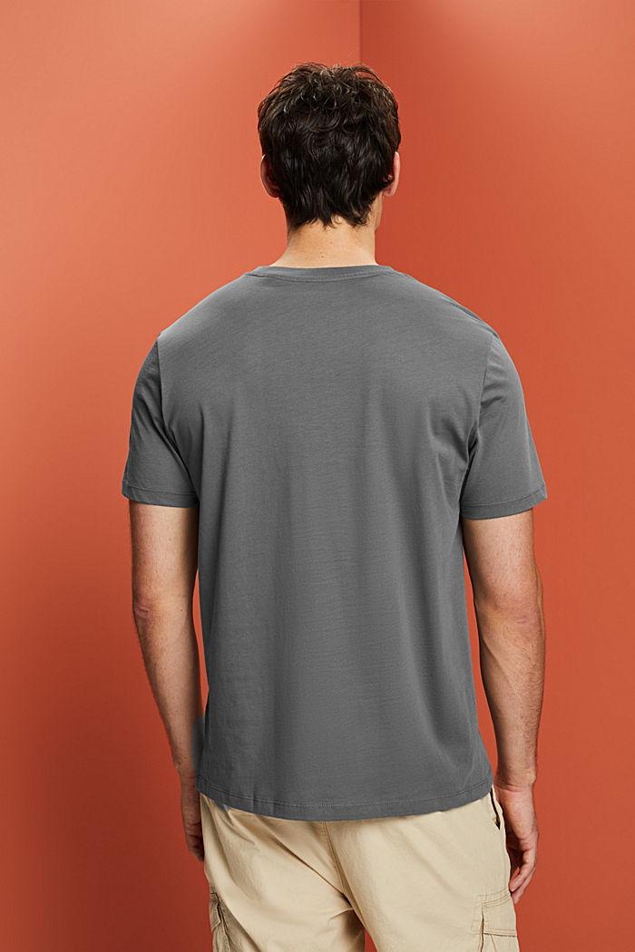 Jersey T-shirt made of 100% organic cotton, DARK GREY, detail image number 3
