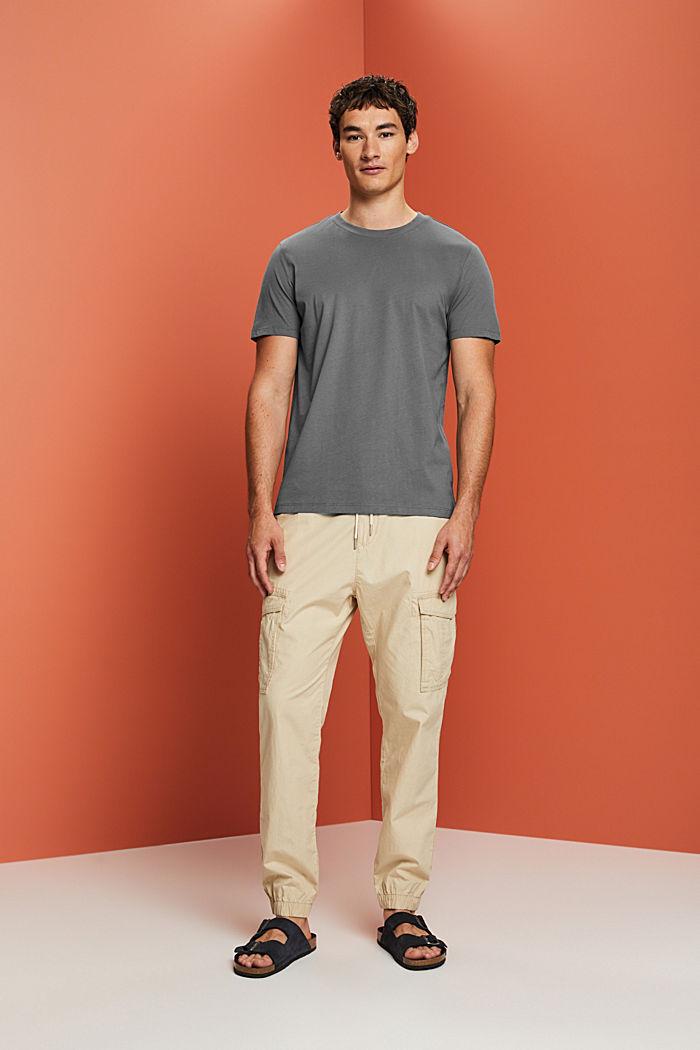 Jersey T-shirt made of 100% organic cotton, DARK GREY, detail image number 5