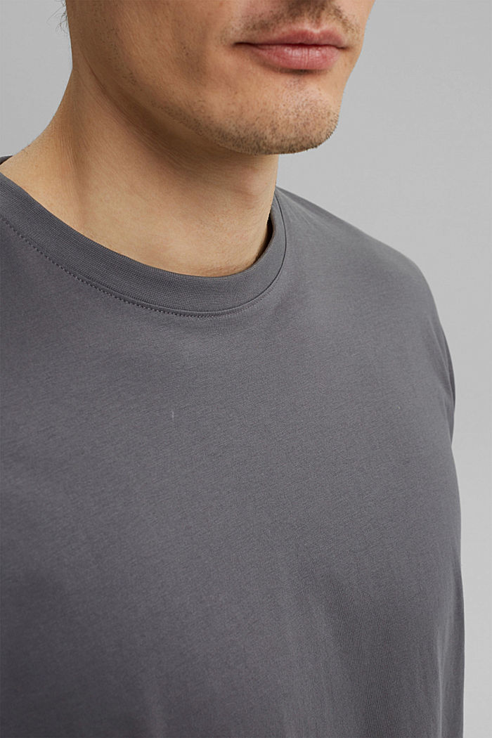 Jersey T-shirt made of 100% organic cotton, DARK GREY, detail image number 1
