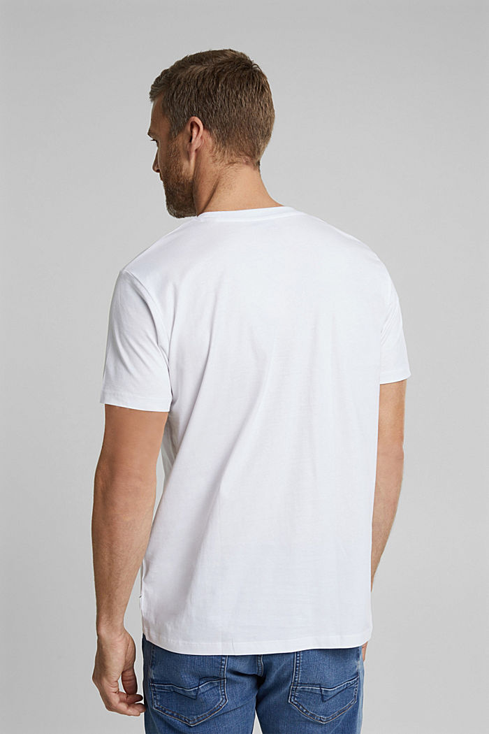 Jersey-T-Shirt aus 100% Organic Cotton, WHITE, detail image number 3