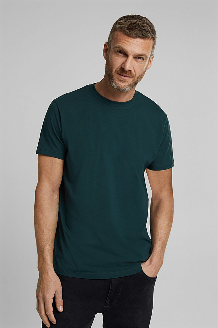 Jersey T-shirt made of 100% organic cotton, TEAL BLUE, detail image number 0