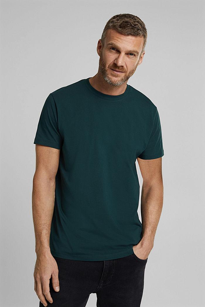 Jersey-T-Shirt aus 100% Organic Cotton, TEAL BLUE, detail image number 0