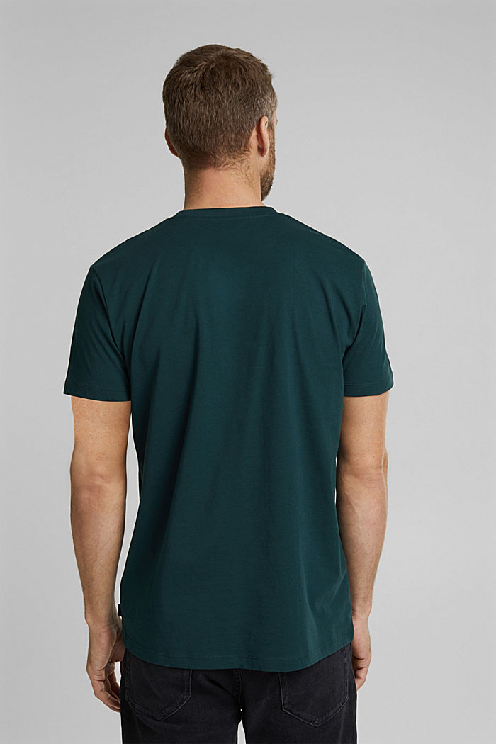 Jersey T-shirt made of 100% organic cotton, TEAL BLUE, detail image number 3