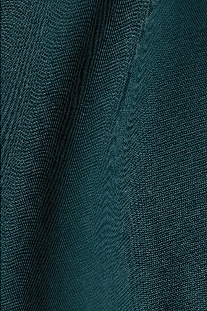 Jersey-T-Shirt aus 100% Organic Cotton, TEAL BLUE, detail image number 5