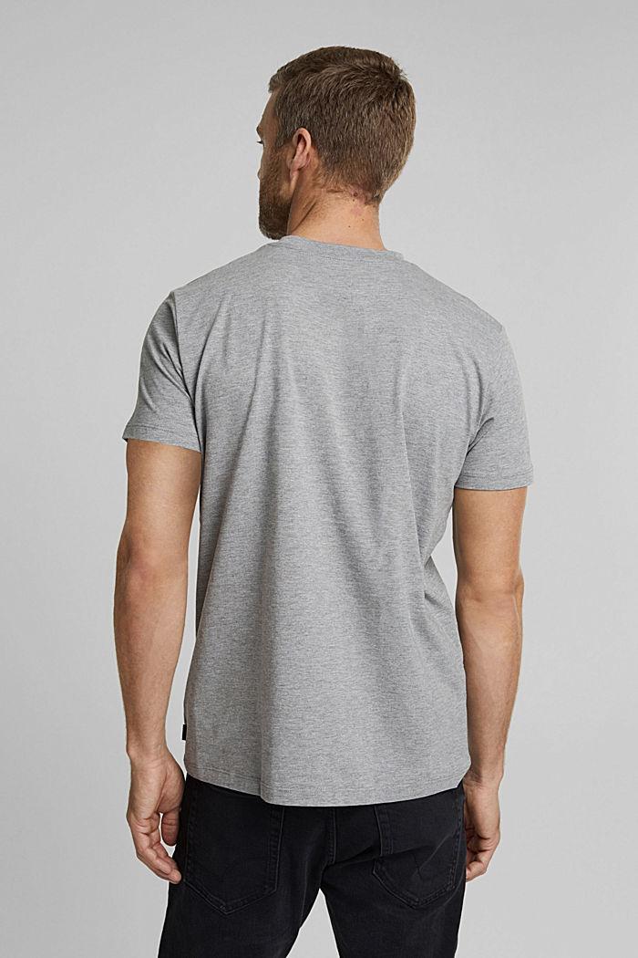 Jersey-T-Shirt mit Organic Cotton, MEDIUM GREY, detail image number 3