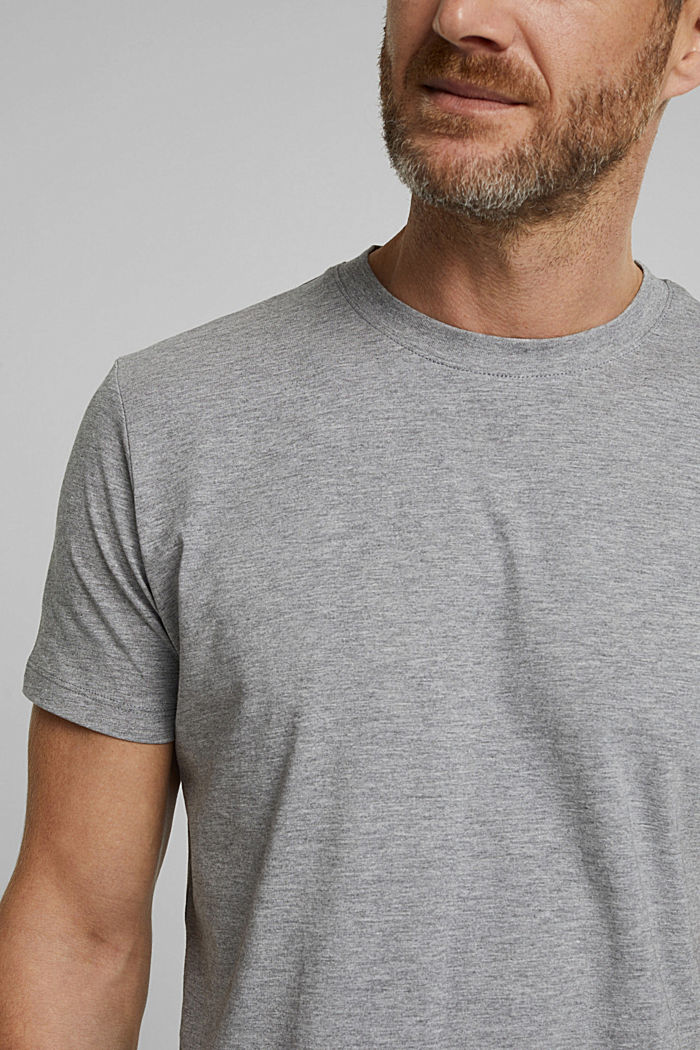 Jersey T-shirt with organic cotton, MEDIUM GREY, detail image number 1