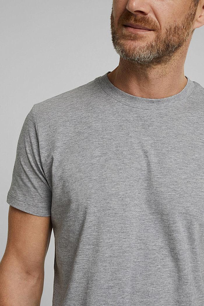 Jersey-T-Shirt mit Organic Cotton, MEDIUM GREY, detail image number 1
