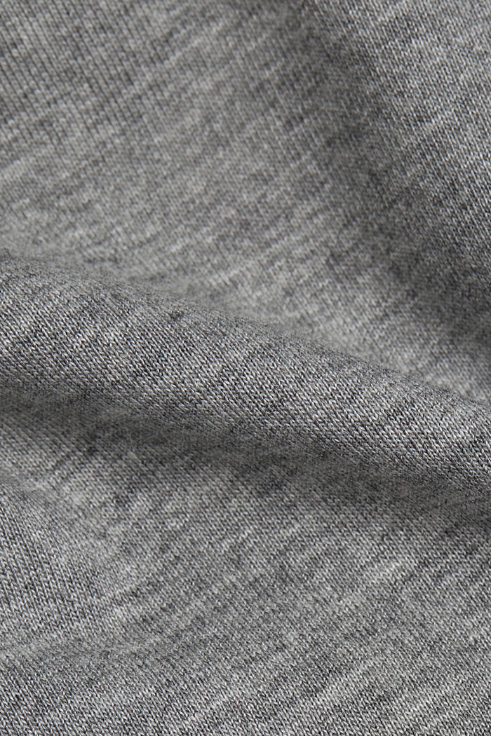 Jersey T-shirt with organic cotton, MEDIUM GREY, detail image number 4
