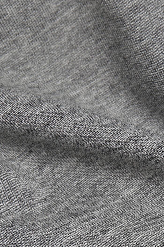 Jersey-T-Shirt mit Organic Cotton, MEDIUM GREY, detail image number 4