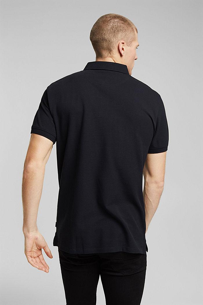 Polohemd aus 100% Organic Cotton, BLACK, detail image number 3