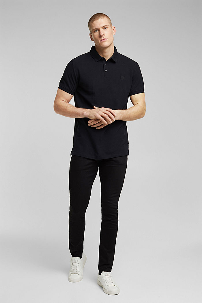 Polo shirt made of 100% organic cotton, BLACK, detail image number 2