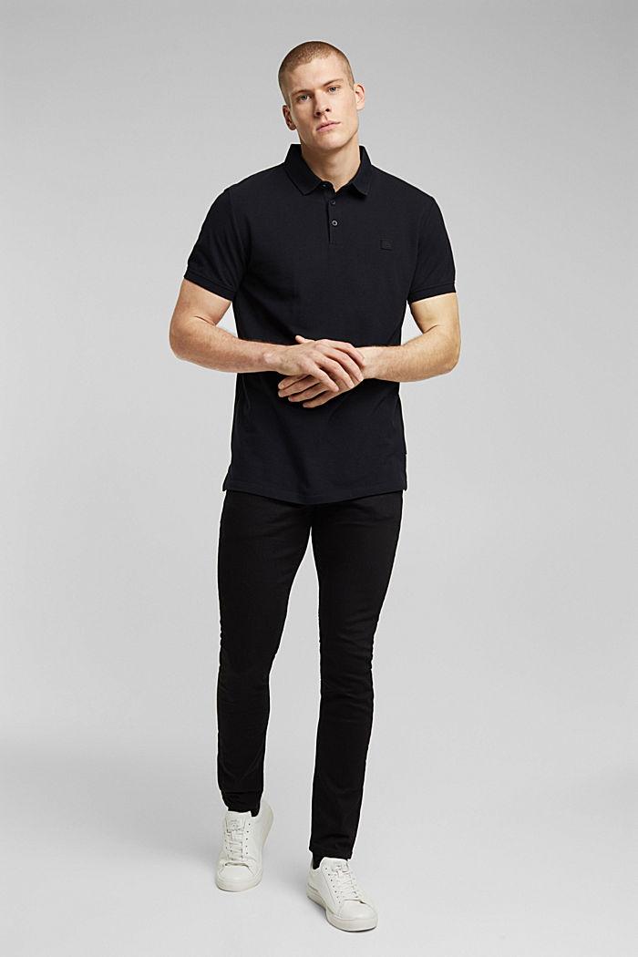 Polohemd aus 100% Organic Cotton, BLACK, detail image number 2