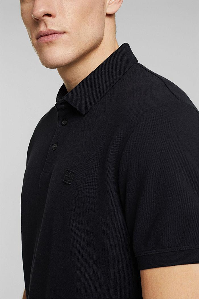 Polohemd aus 100% Organic Cotton, BLACK, detail image number 1