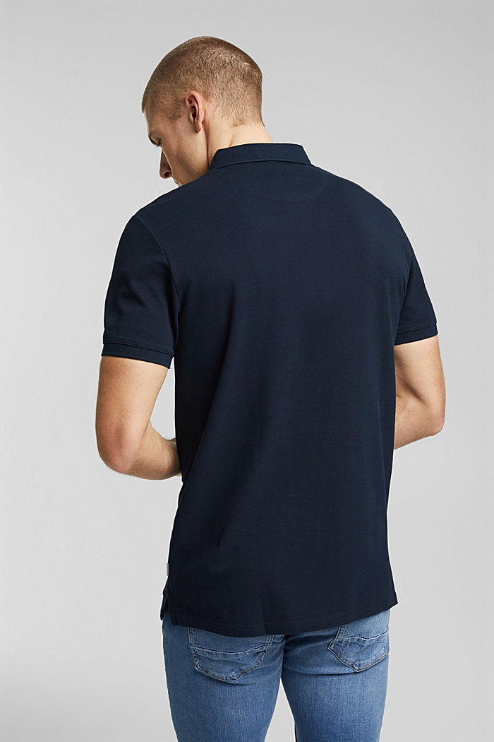 Polohemd aus 100% Organic Cotton, NAVY, detail image number 3