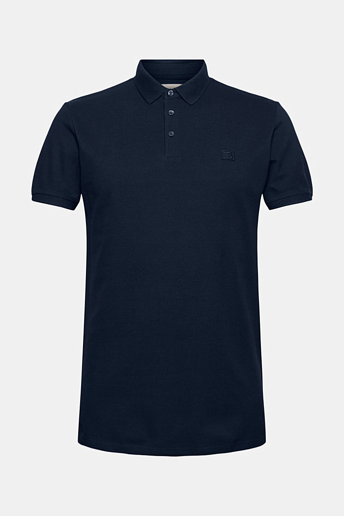 Polohemd aus 100% Organic Cotton, NAVY, detail image number 5