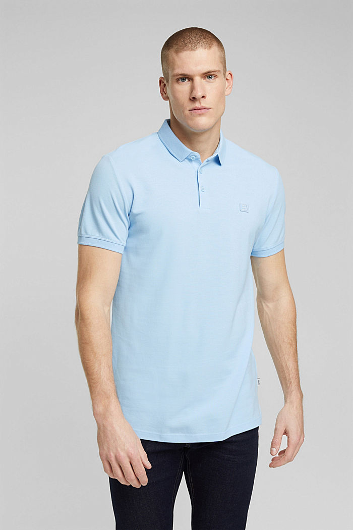 Polo shirt made of 100% organic cotton, LIGHT BLUE, detail image number 0