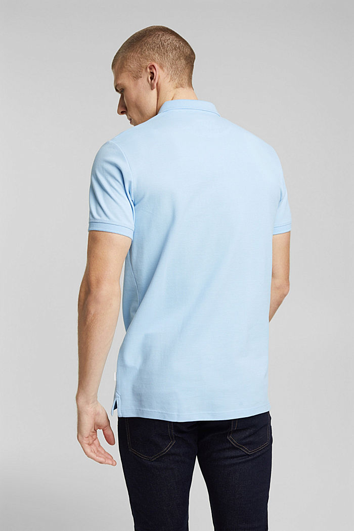 Polo shirt made of 100% organic cotton, LIGHT BLUE, detail image number 3