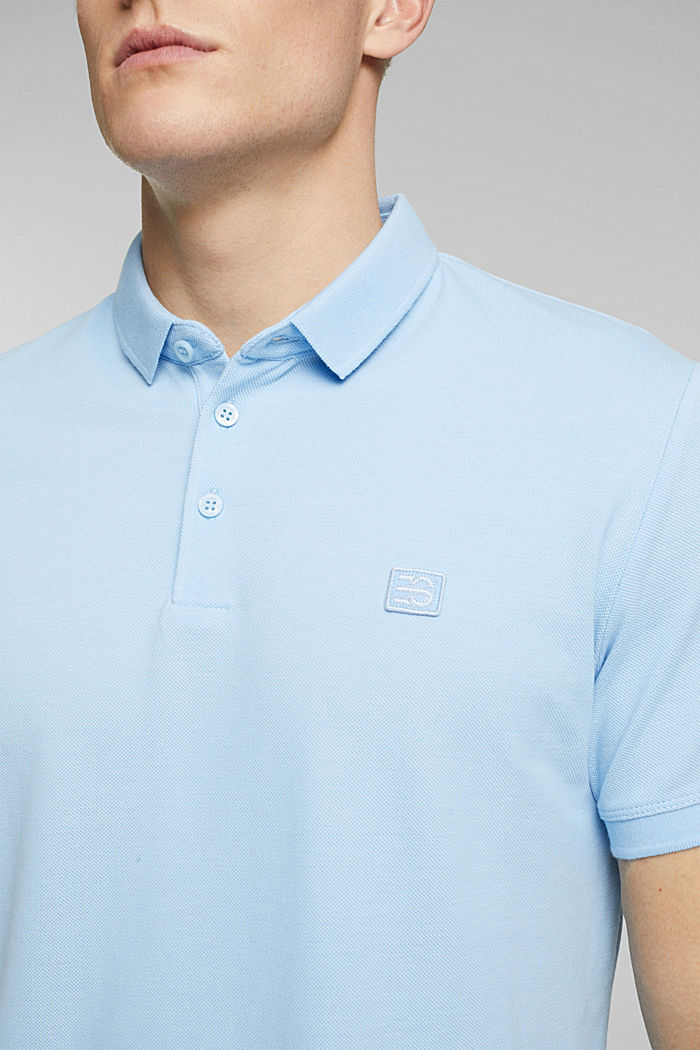 Polo shirt made of 100% organic cotton, LIGHT BLUE, detail image number 1
