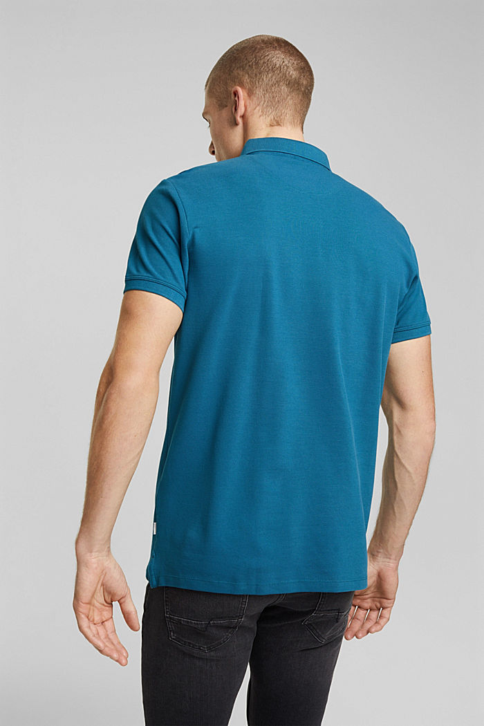 Polo shirt made of 100% organic cotton, PETROL BLUE, detail image number 3
