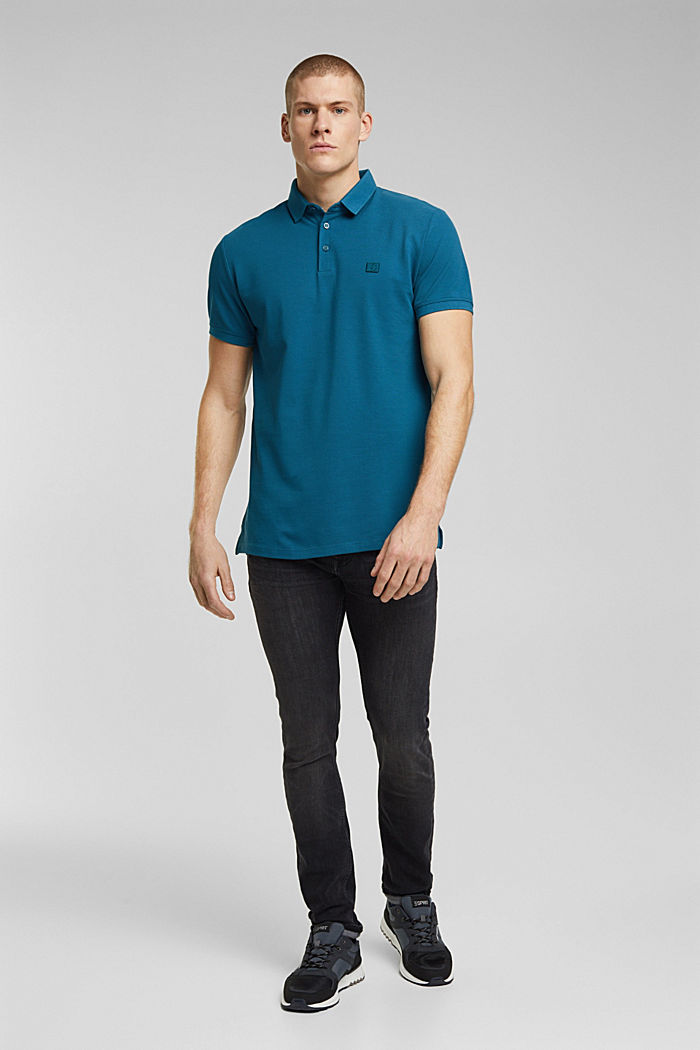 Polo shirt made of 100% organic cotton, PETROL BLUE, detail image number 2
