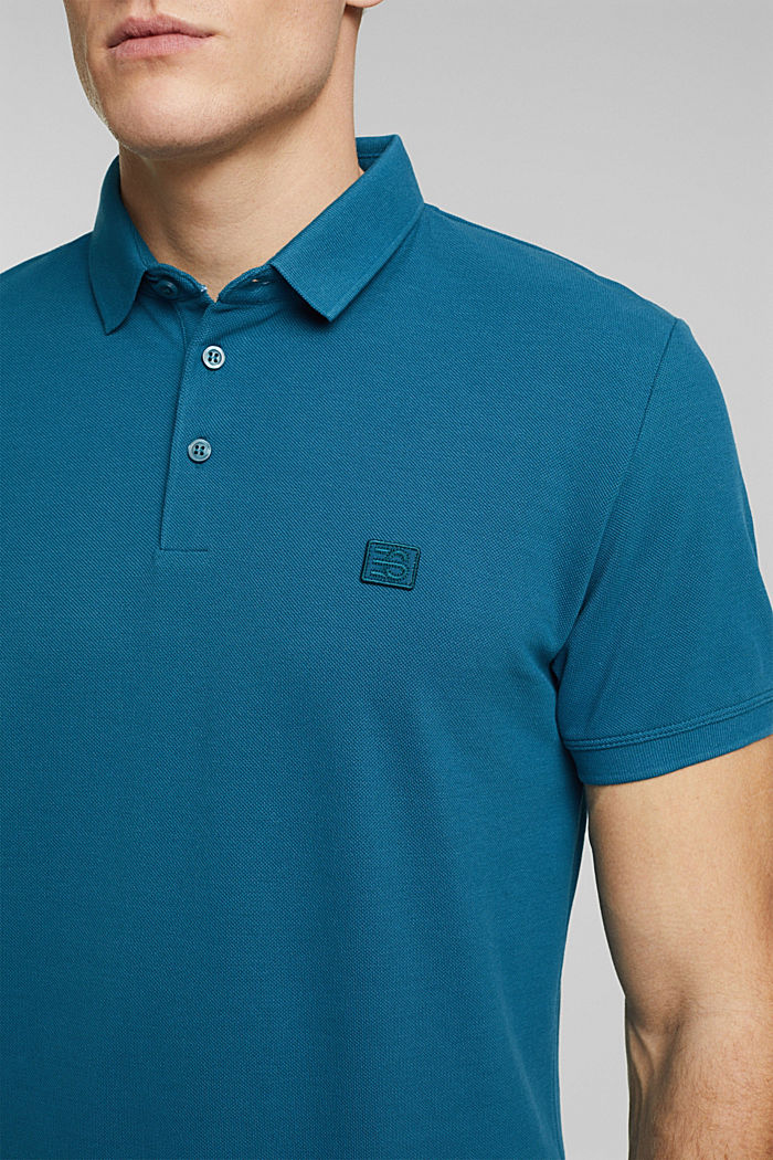 Polo shirt made of 100% organic cotton, PETROL BLUE, detail image number 1