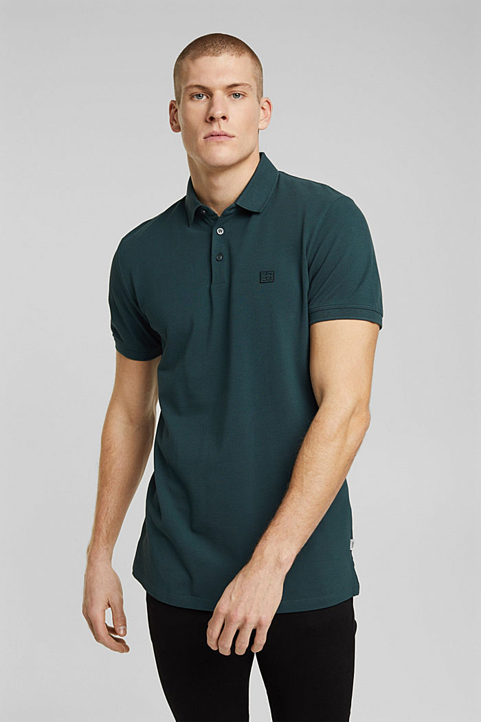 Polo shirt made of 100% organic cotton, TEAL BLUE, detail image number 0
