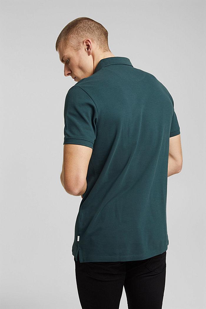 Polohemd aus 100% Organic Cotton, TEAL BLUE, detail image number 3