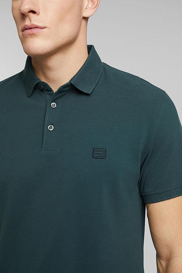 Polohemd aus 100% Organic Cotton, TEAL BLUE, detail image number 1
