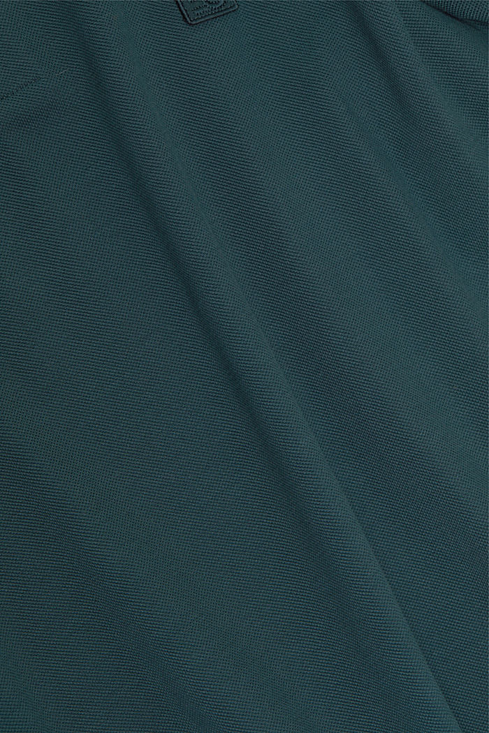 Polohemd aus 100% Organic Cotton, TEAL BLUE, detail image number 4