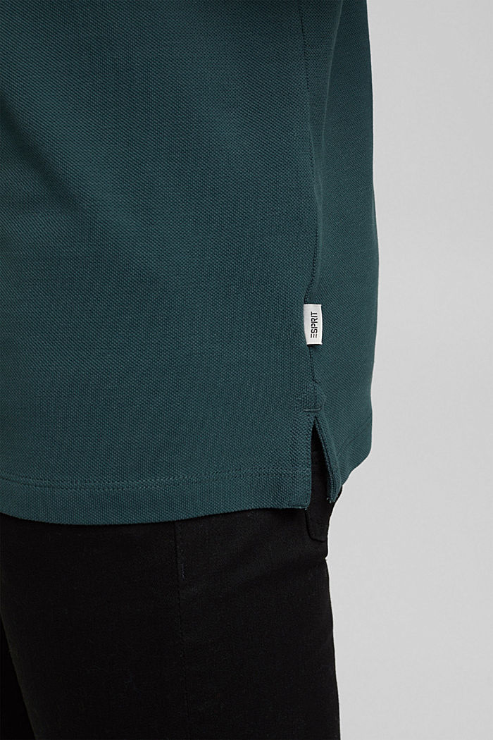 Polohemd aus 100% Organic Cotton, TEAL BLUE, detail image number 5