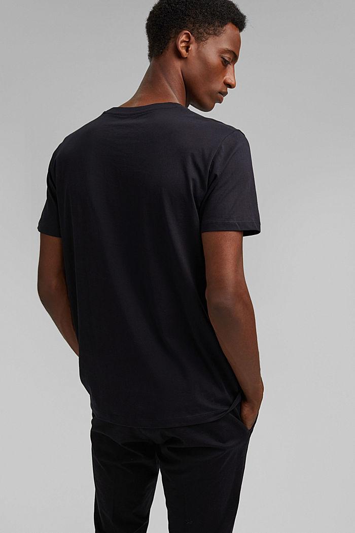 Jersey-T-Shirt mit Print, 100% Bio-Baumwolle, BLACK, detail image number 3