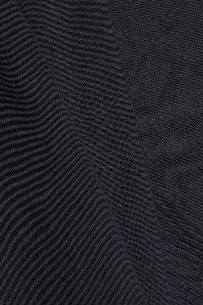 Jersey-T-Shirt mit Print, 100% Bio-Baumwolle, BLACK, detail image number 4