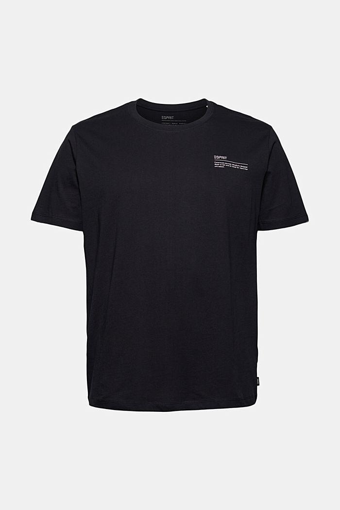Jersey-T-Shirt mit Print, 100% Bio-Baumwolle, BLACK, detail image number 6
