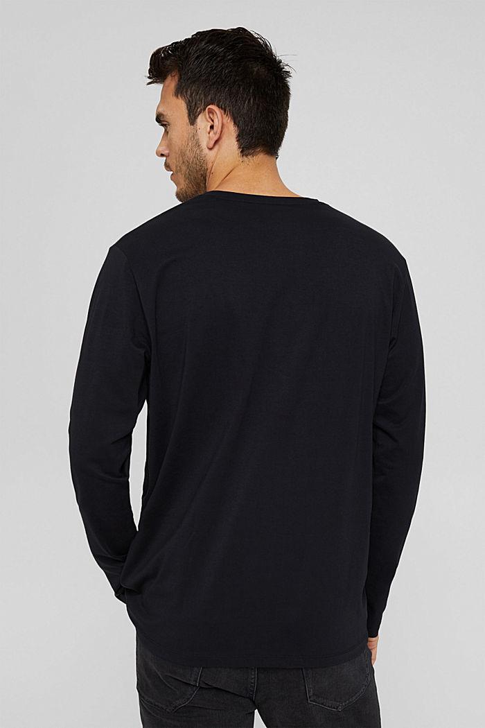 Haut à manches longues en jersey, 100% coton bio, BLACK, detail image number 3