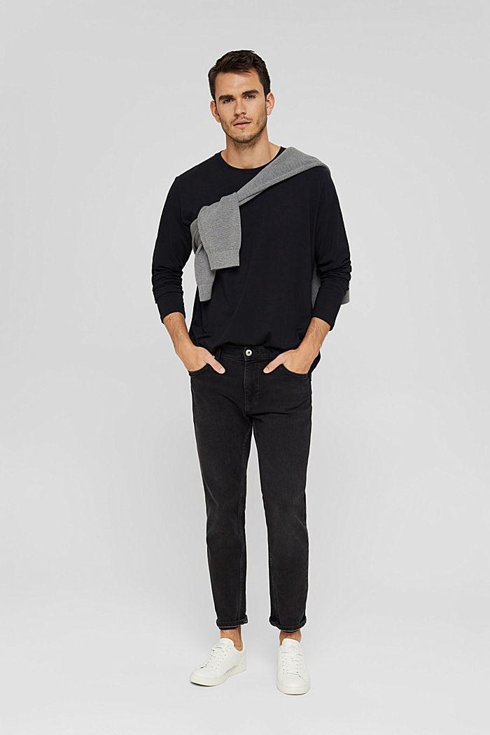 Haut à manches longues en jersey, 100% coton bio, BLACK, detail image number 2