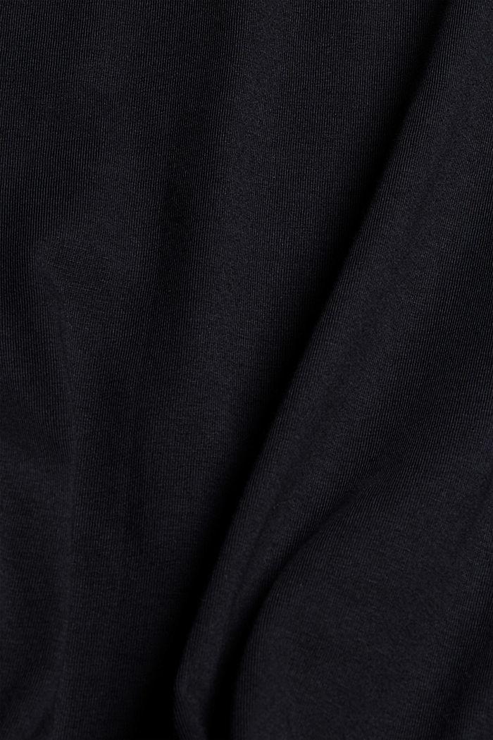 Haut à manches longues en jersey, 100% coton bio, BLACK, detail image number 5