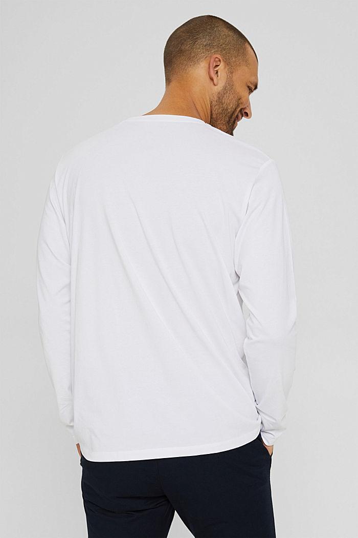 Haut à manches longues en jersey, 100% coton bio, WHITE, detail image number 3