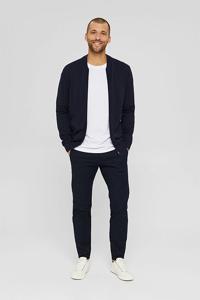 Haut à manches longues en jersey, 100% coton bio, WHITE, detail image number 2