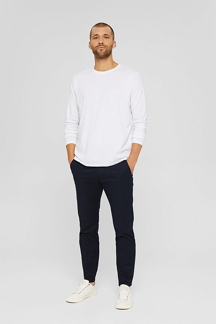 Haut à manches longues en jersey, 100% coton bio, WHITE, detail image number 7