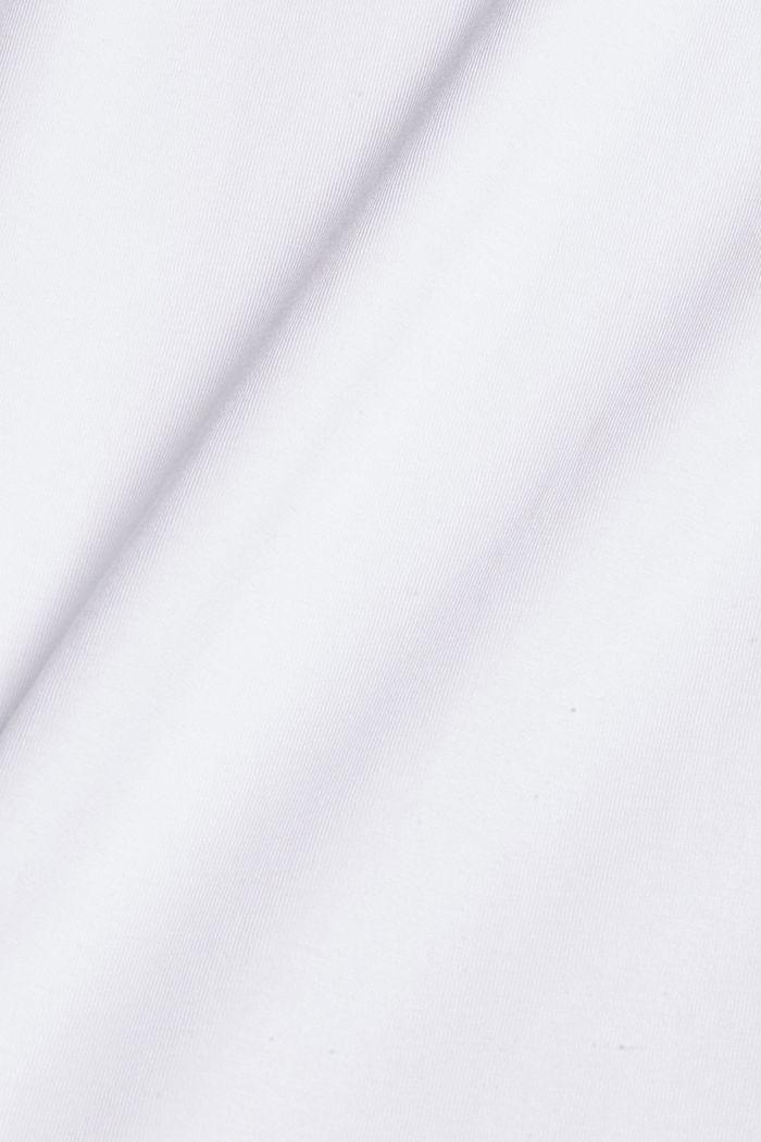Haut à manches longues en jersey, 100% coton bio, WHITE, detail image number 4