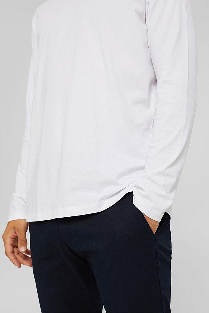 Haut à manches longues en jersey, 100% coton bio, WHITE, detail image number 6