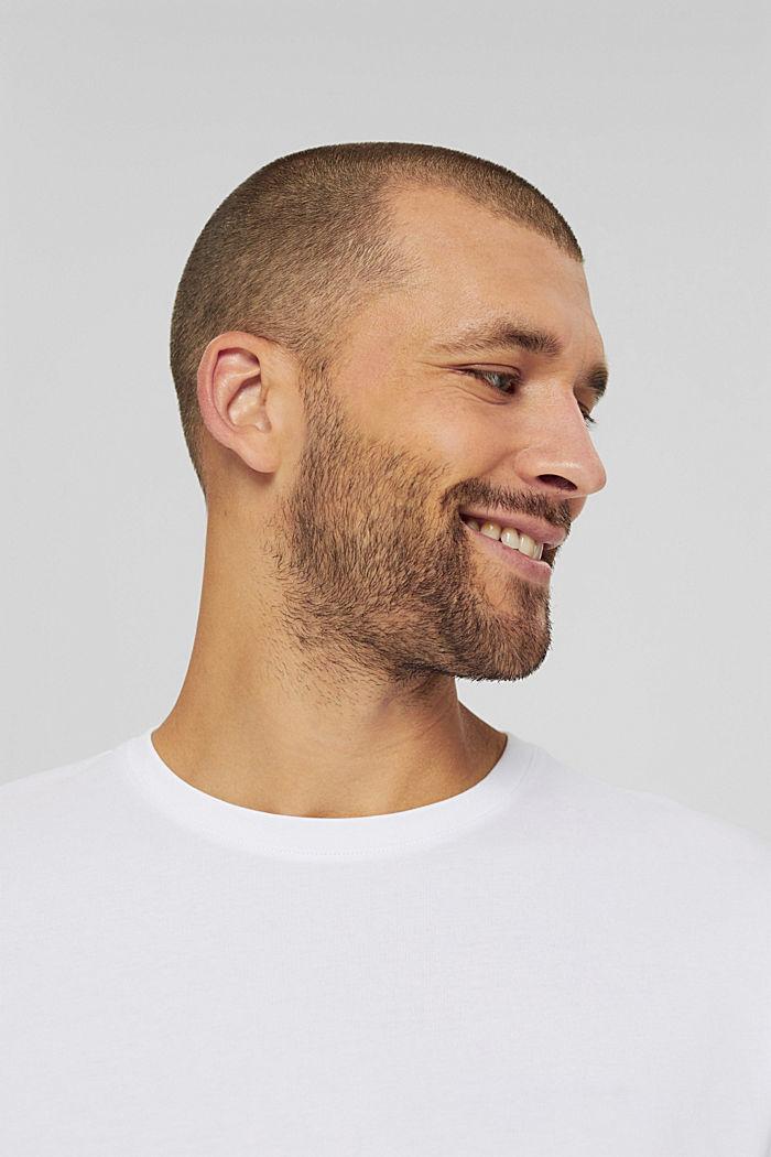 Haut à manches longues en jersey, 100% coton bio, WHITE, detail image number 5